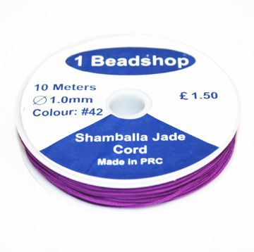Purple 42 10 Metres x 1.0mm Jade Cord JSC-10-1.0-42 / S.B